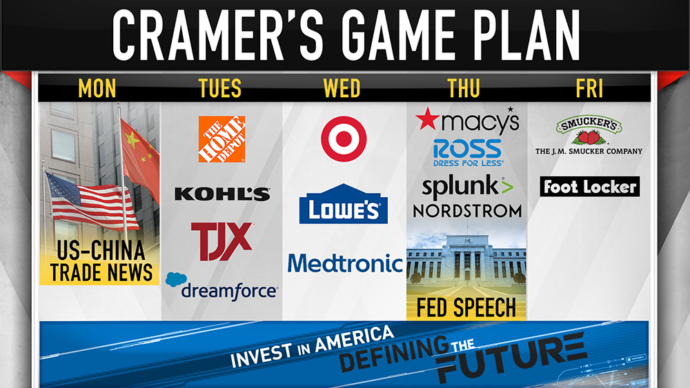 Cramer's week ahead: Home Depot, Target and Macy's earnings — plus US-China trade developments