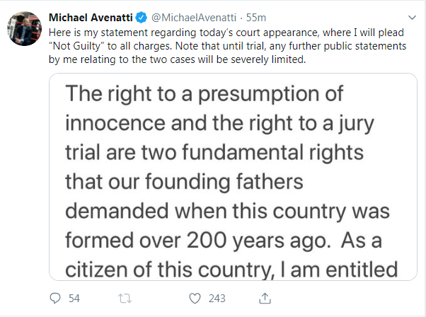 Michael Avenatti says he will plead not guilty to fraud charges