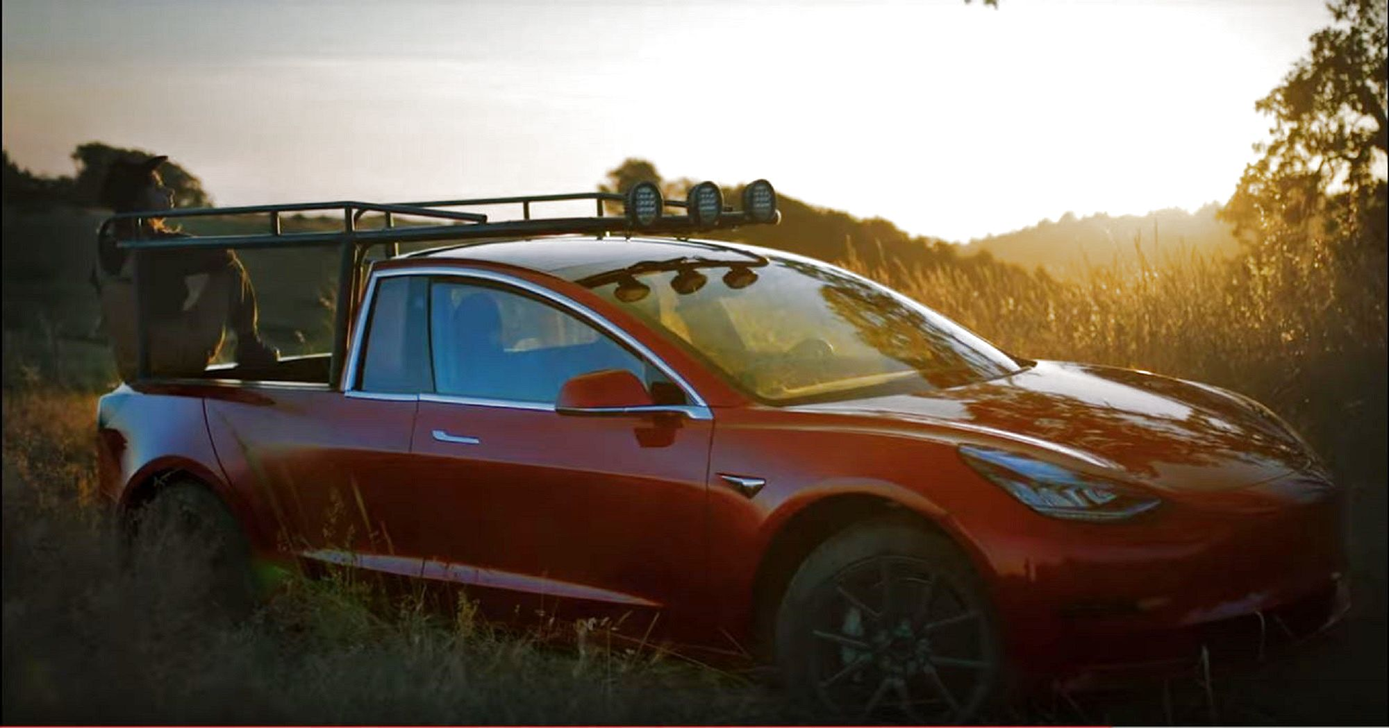 Photos Youtube Star Turned A Tesla Model 3 Into A Pickup Truck