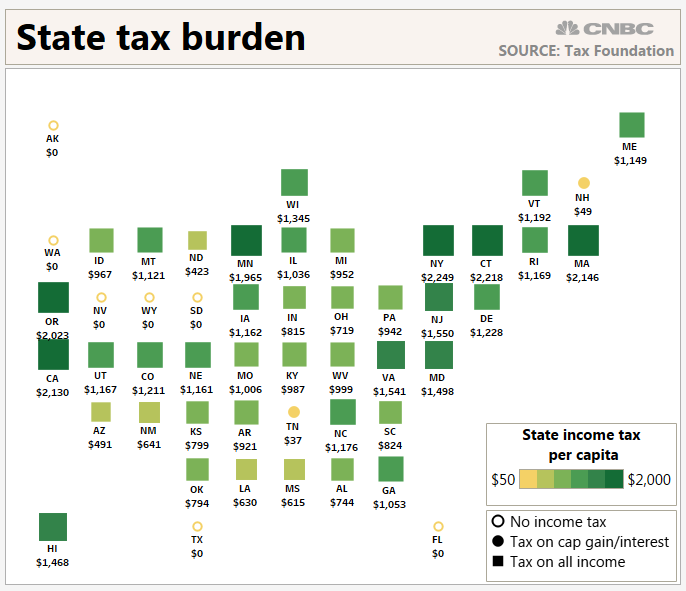 How Much Is Tax >> This Is How Much Income Tax You Re Paying To Your State