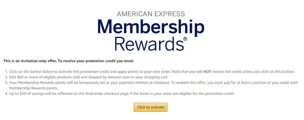 Get $6 off at Amazon with just 6 Amex point