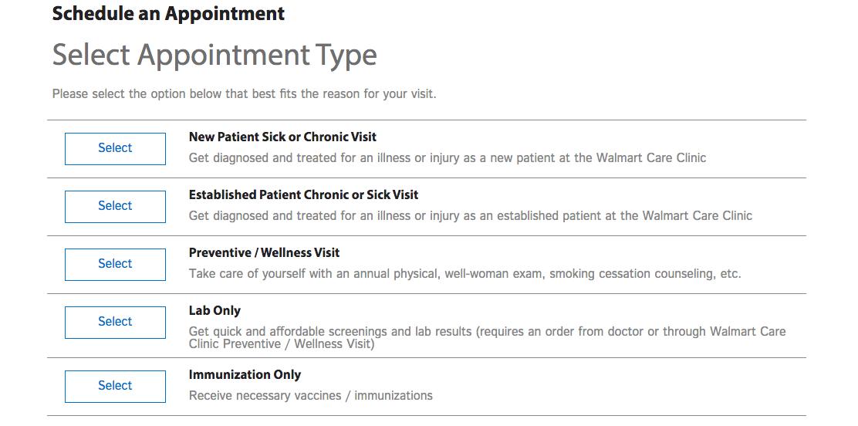 Walmart New Clinic
