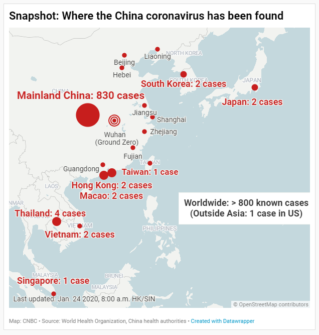 Coronavirus Came From: China Coronavirus: The Confirmed Cases And Where They Are